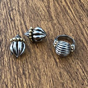 Jewelry - Vintage Silver Ring and Clip Earrings